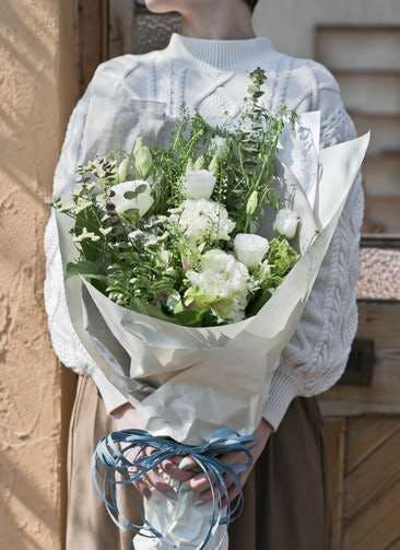 トルコキキョウ 花束 ホワイト M スタンダード
