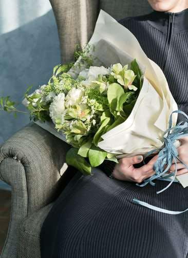 トルコキキョウ 花束 ホワイト L スタンダード