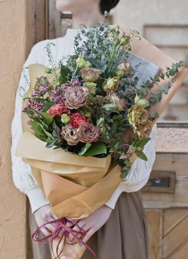 トルコキキョウ 花束 ブラウン M スタンダード