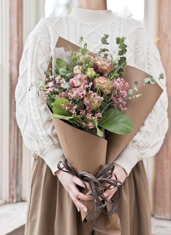 トルコキキョウ 花束 ブラウン S スタンダード