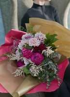 ダリア 花束 ピンク L ナチュラルブーケ