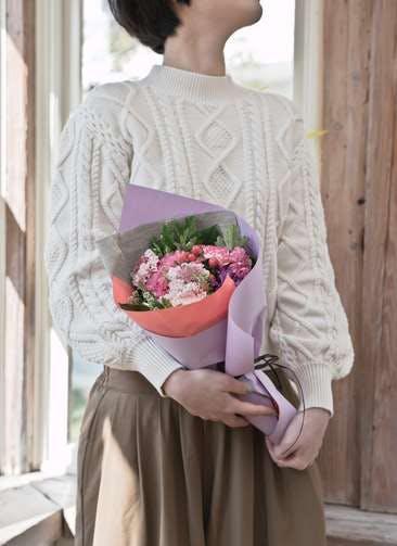 カーネーション 花束 ピンク S ナチュラルブーケ