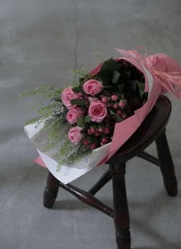 バラ 花束 ピンク S スタンダード