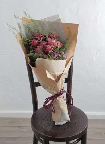 バラ 花束 ブラウン M スタンダード