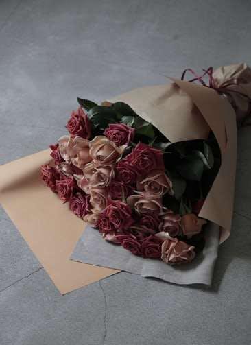 バラ 花束 ブラウン L   (50本入り)