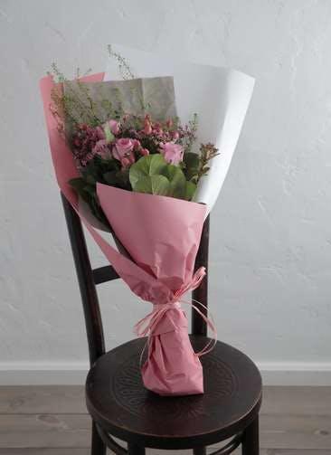 バラ 花束 ピンク M スタンダード