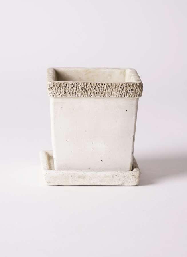 鉢カバー リト キューブ3号 受け皿付き #KONTON CE-003X03P