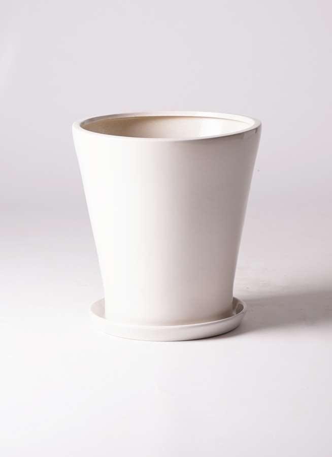鉢カバー サブリナ 10号鉢用 白 #ミュールミル S002LWh