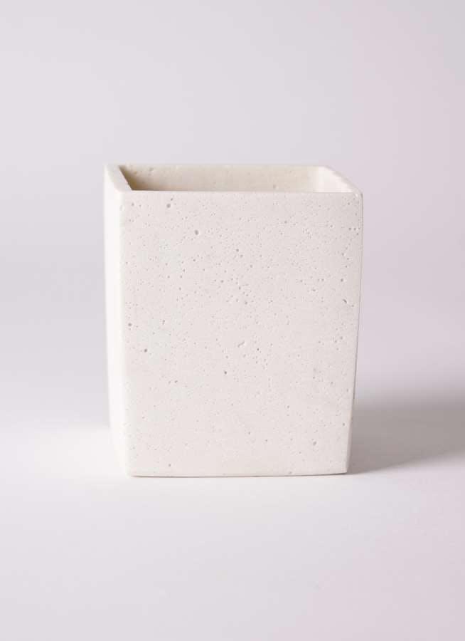 鉢カバー  ポリストーンキューブSホワイト 3号鉢用 #ASHGREY PJ-0391