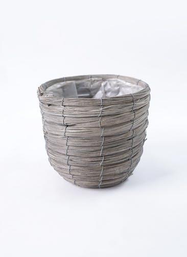 鉢カバー ウードンラウンドバンドル 5号鉢用 グレー #ASHGREY 21-018