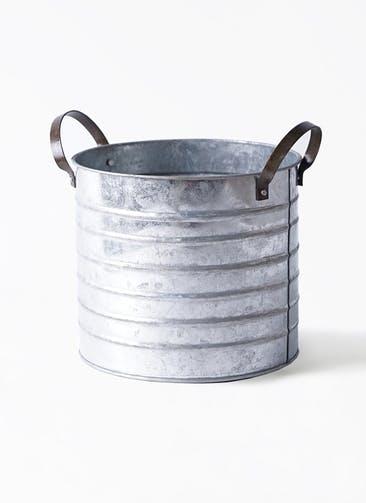 鉢カバー  ブリキドラム 5号鉢用 #ASHGREY 32-018