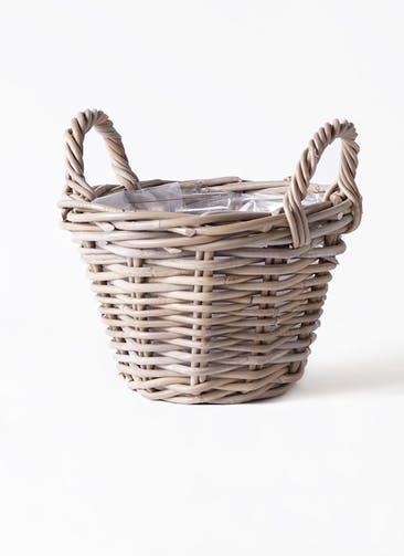 鉢カバー  モンデリックハンドルバスケット  5号鉢用 #GREENPOT VL901117
