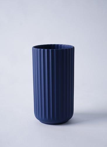 Lyngby Vase(リュンビューベース) H15cm ミッドナイトブルー #Lyngby Porcelæn 200874