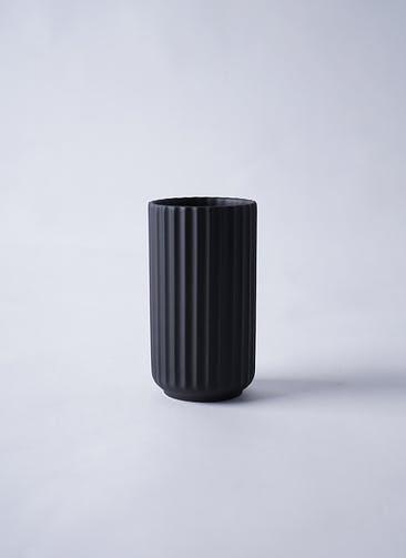 Lyngby Vase(リュンビューベース) H12cm ブラック #Lyngby Porcelæn 200800