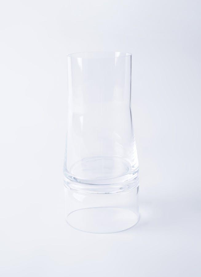 JC Vase 2in1 (ジョエコロンボベース ツーインワン) Lサイズ クリア/クリア #Lyngby Porcelæn 201319