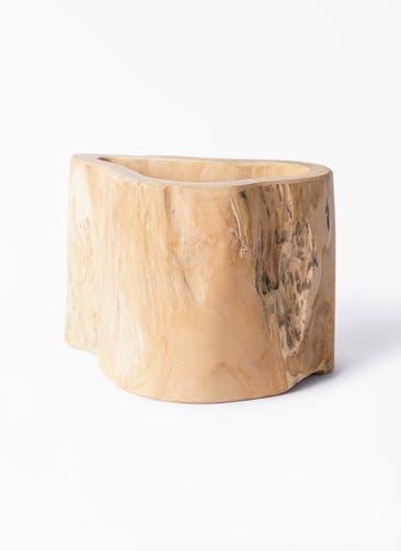 鉢カバー TeaK Wood (ティークウッド) L #stem W1751