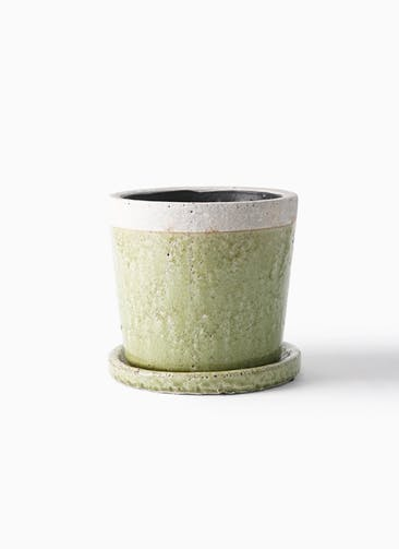 鉢カバー クレーパ 5号鉢用 グリーン #KONTON SH-002U06P
