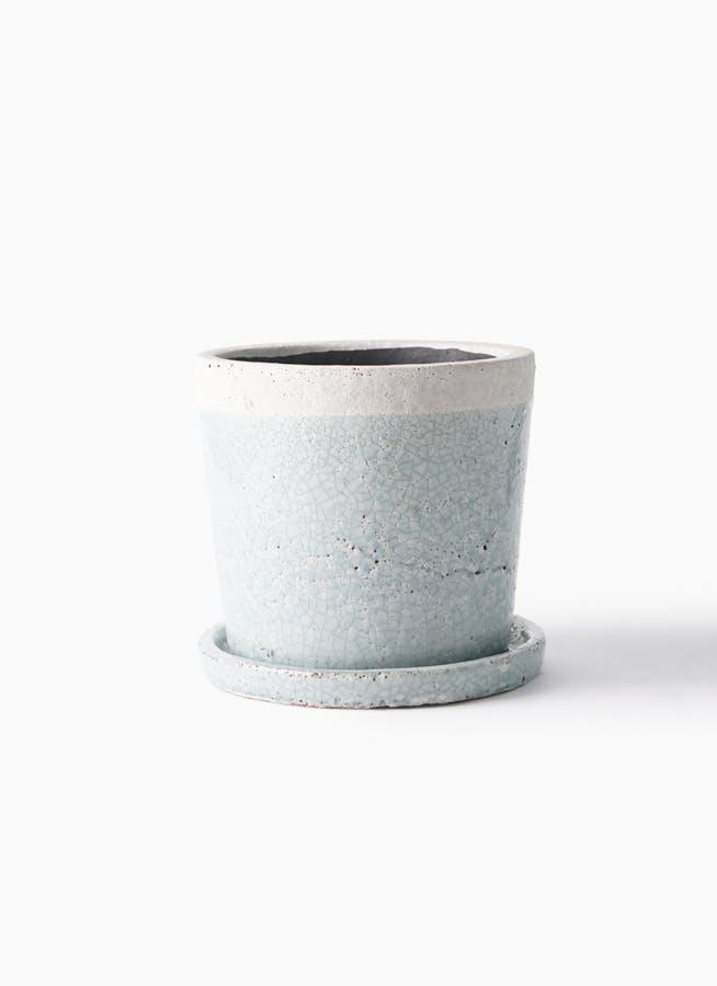 鉢カバー クレーパ 5号鉢用 ブルー #KONTON SH-002B06P