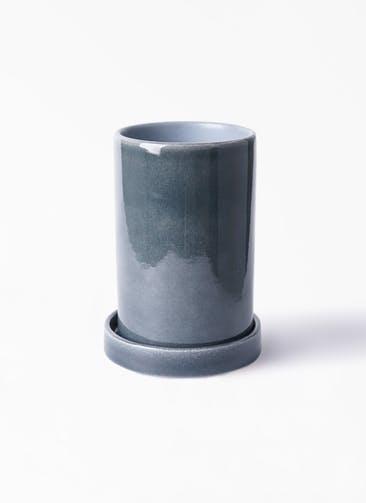 鉢カバー カームシリンダー 4号鉢用 Blue #GREENPOT HO-702-1BU