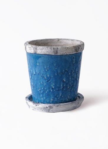 鉢カバー Antique Terra Cotta (アンティークテラコッタ) 5号鉢用 Blue #stem C2300