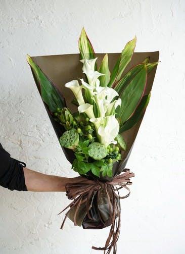 カラー 花束 ホワイト L スタンダード