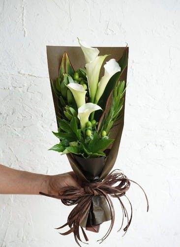 カラー 花束 ホワイト S スタンダード