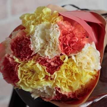 カーネーション 花束 黄色(イエロー)&オレンジ