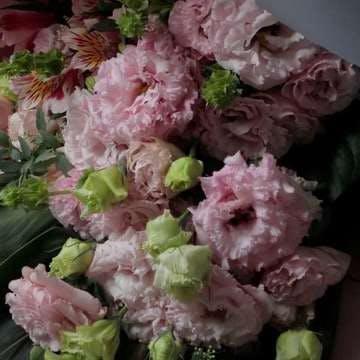 トルコキキョウ 花束 ピンク