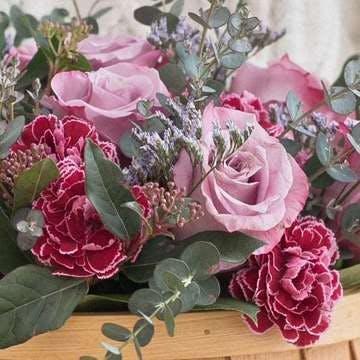 バラ アレンジメント 紫(パープル)