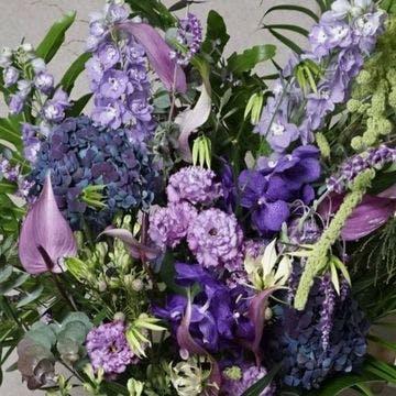 スタンド花 紫