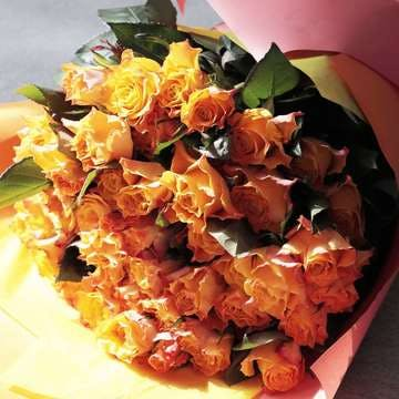 バラ 花束 オレンジ