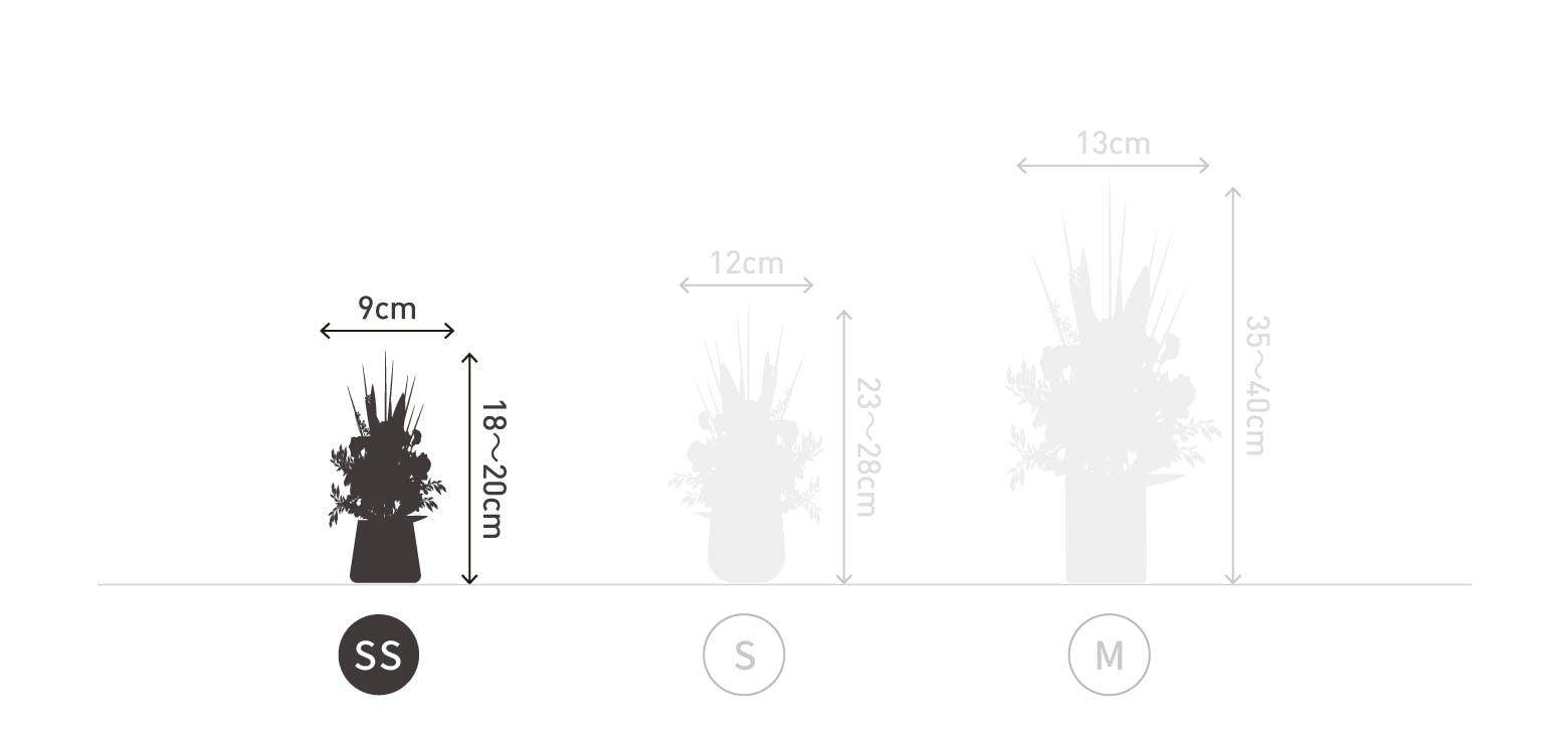 サイズ目安 高さ20〜25cm 幅15〜20cm